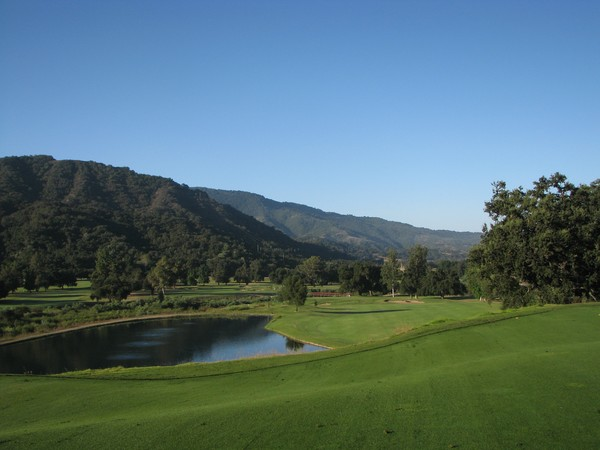 Soule Park Golf Course Ojai California. Hole 1 Par 4