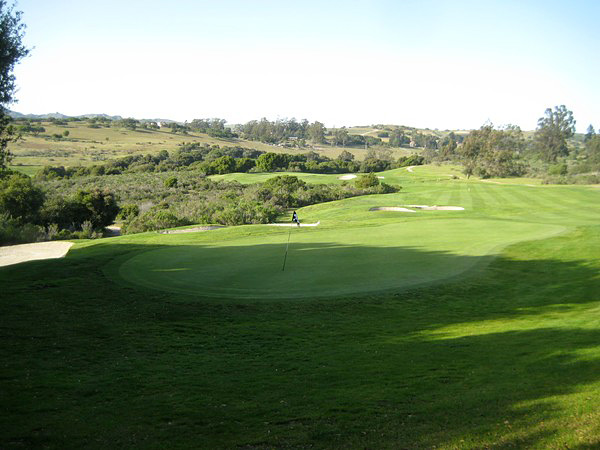 La Purisima Golf Course Lompoc California. Hole 15 Green-side