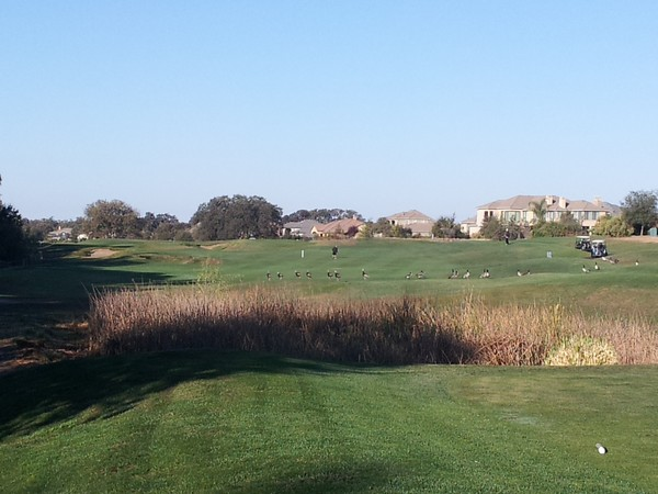 Morgan Creek Golf Club Roseville California. Hole 1 View from Tee Box