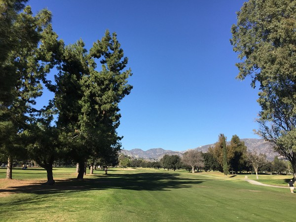 Brookside Golf Course #1 Pasadena, California. Hole 11 Par 5