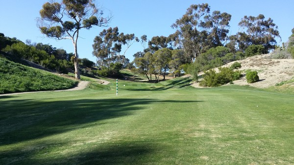 Goat Hill Park Golf Course Oceanside, California. Hole 12 Approach