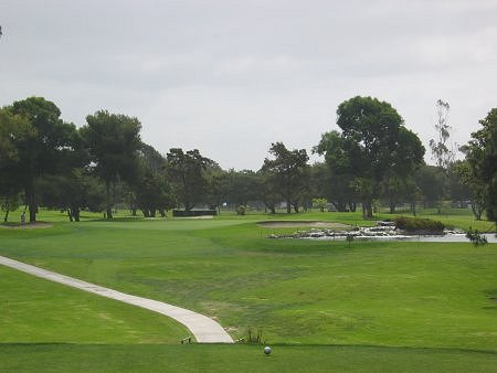 Costa Mesa Country Club LOS LAGOS Course Costa Mesa California. Hole 7 Par 3