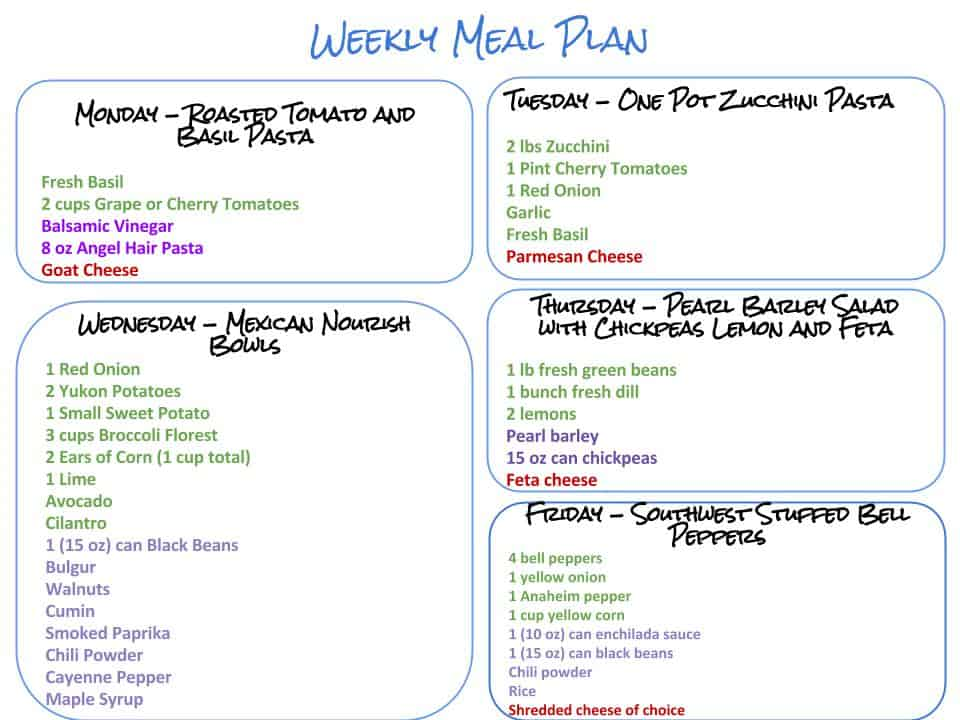 Copy of Weekly Meal Plan and Grocery List 9.12 v.2