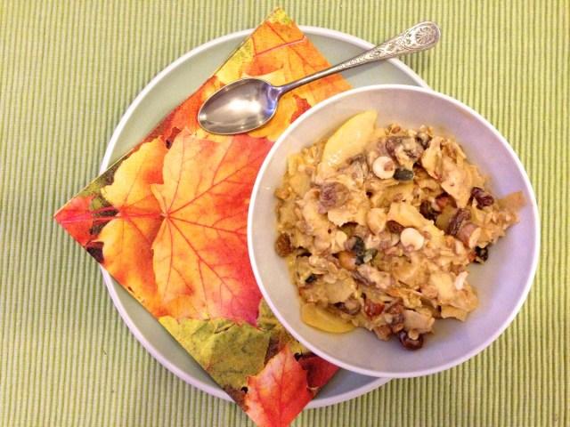 Veganes Bircher-Benner-Müsli No. #1 mit Karottensaft.