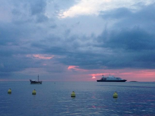 Abendstimmung in der istrischen Hauptstadt Rovinj. Auch die Stadt an der östlichen Adria ist vom Klimawandel am Mittelmeer betroffen.