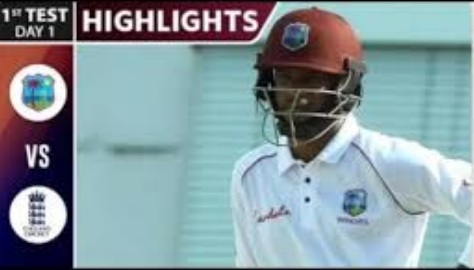 England vs West Indies 1st Test Day 1 Highlights 23 Jan 2020