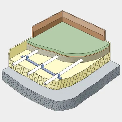 underfloor heating installation example
