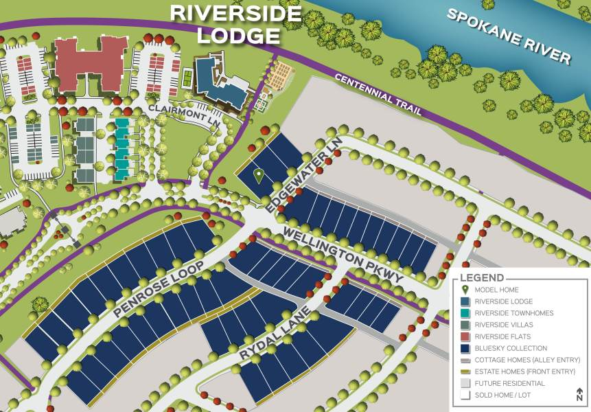 Greenstone Homes at River District Community   Trutina 55  Trutina 55  at River District Neighborhood Map