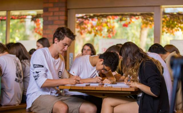 Campers learning academic skills at Green SuperCamp Australia