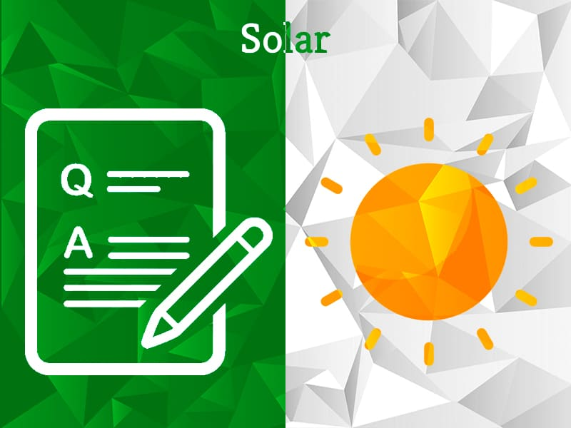 Solar | Question Category | Experts Corner | Greensutra | India