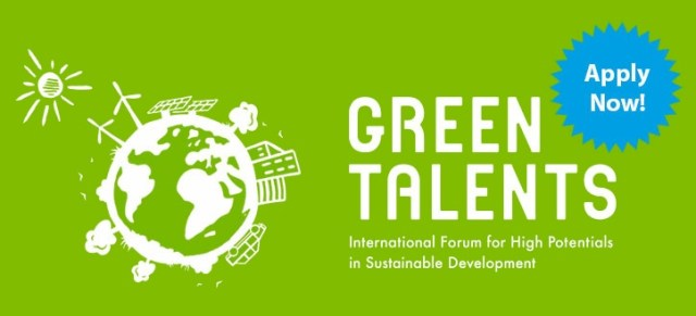 Application period for Green Talents Award has now started