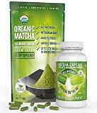 Matcha Green Tea Powder - Powerful Antioxidant Japanese Organic (Matcha Capsule + Culinary Matcha Powder) by Kiss Me Organics