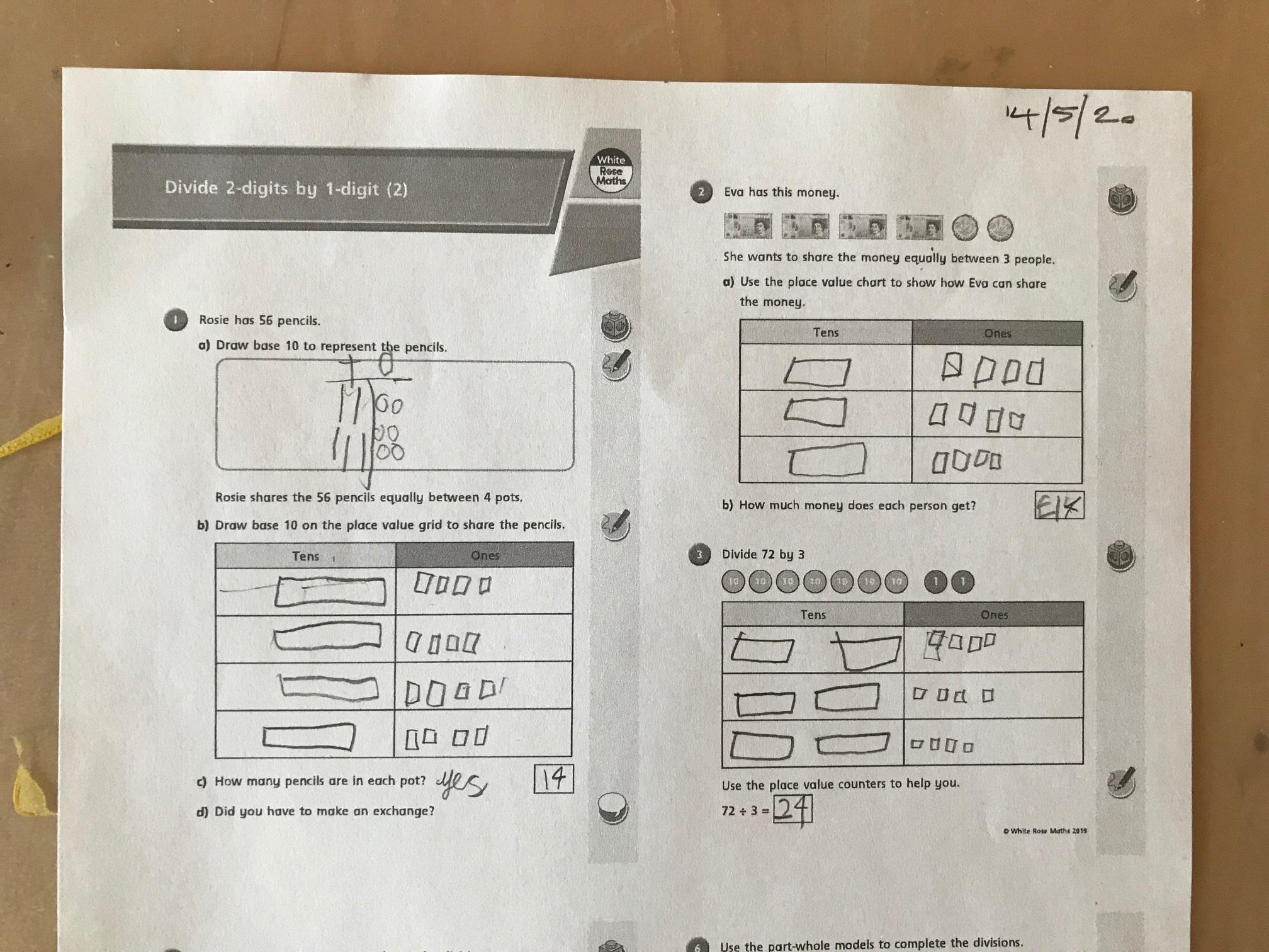 Noah Division Worksheet 1