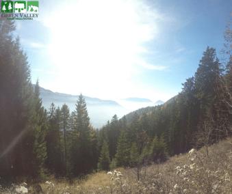 Vista valle dei Mocheni