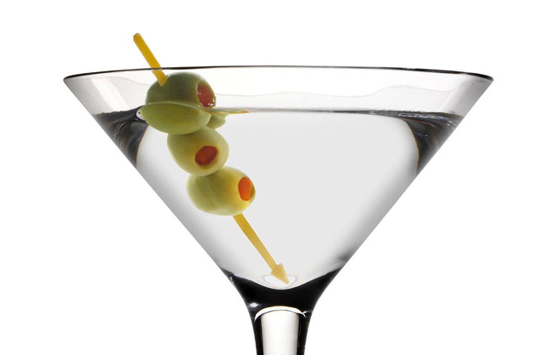 an image of vodka with olives