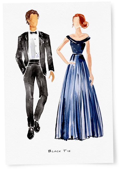What To Wear A Black Tie Wedding