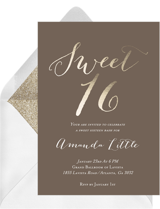 16 sweet 16 invitations your teen will