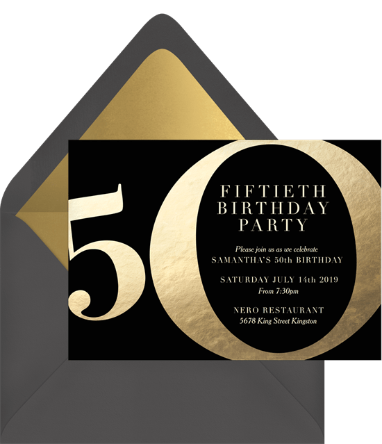 10 50th birthday invitations to