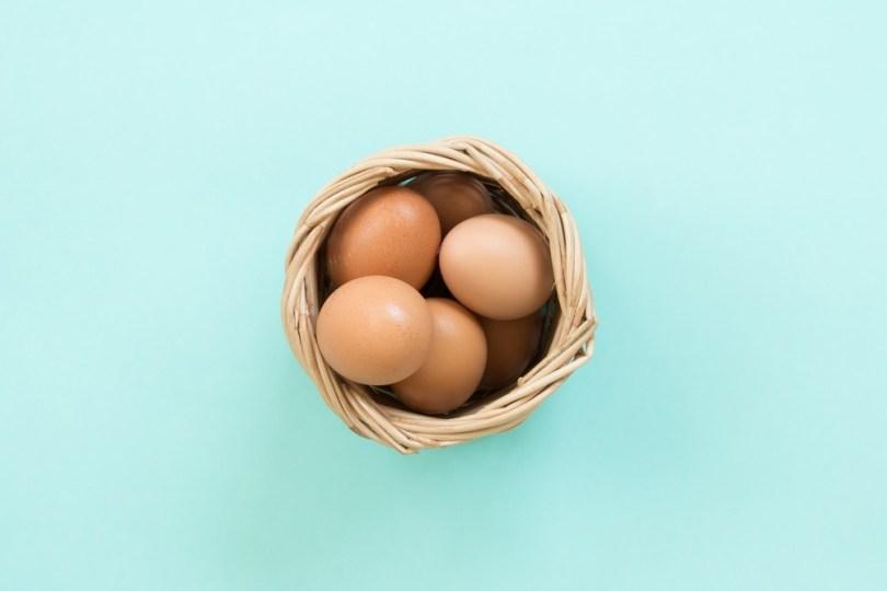 œufs de poule