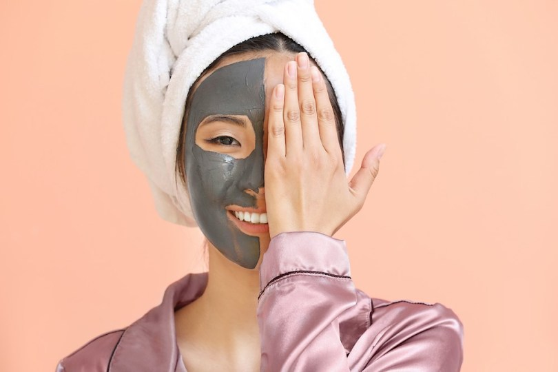 masque à l'argile
