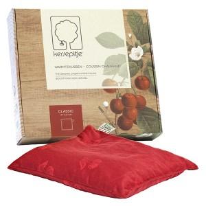 Mieux dormir : coussin chauffant noyaux de cerise, Cherry