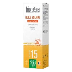 Huile solaire hypoallergénique SPF15, Bioregena
