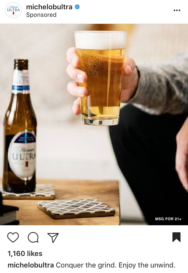 Instagram Advertising for Michelob Ultra