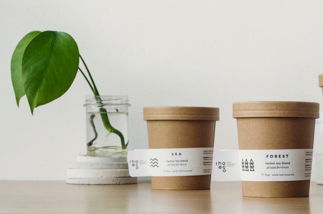 Plantable Packaging from Greek Tea Masters, Rhoeco – Green