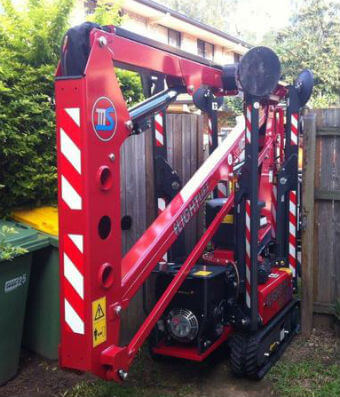 Green Works Tree Care narrow access cherry picker