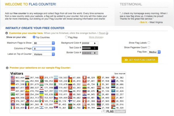 Flag Counter for web page