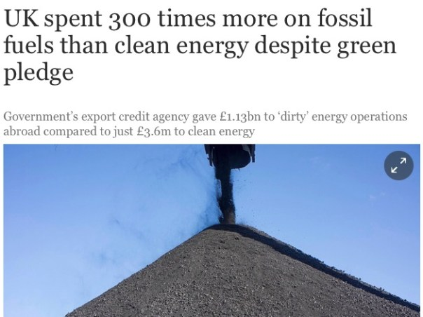 Fossil fuel industry subsidized
