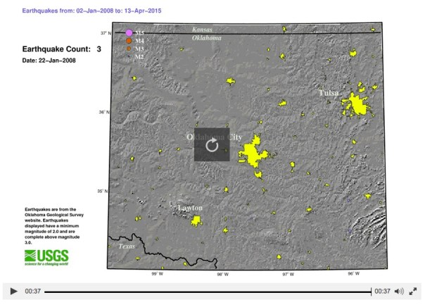 Oklahoma seismic activity