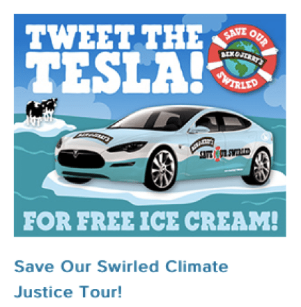 Ben & Jerry's teaming up with Tesla