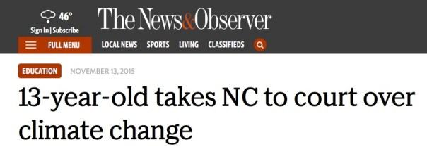 13year old Hallie Turner takes North Carolina to court