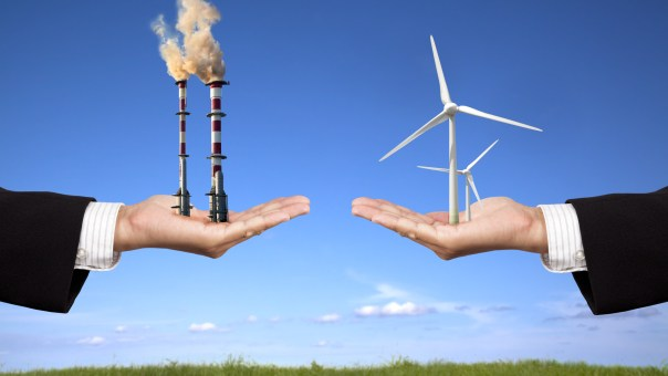 the choice between non-renewable and renewable energy sources