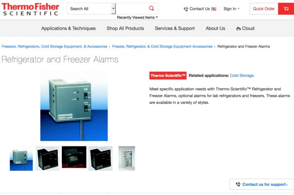 Fisher Scientific research-level temperature alarm system