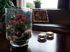 Stukje natuur in een glazen vaas