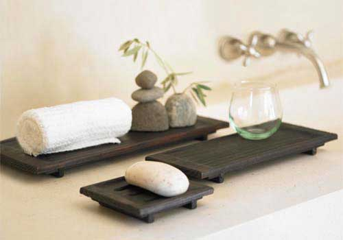 hand-carved spa trays