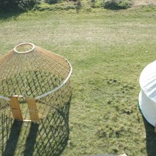 16ft yurt with and without canvas