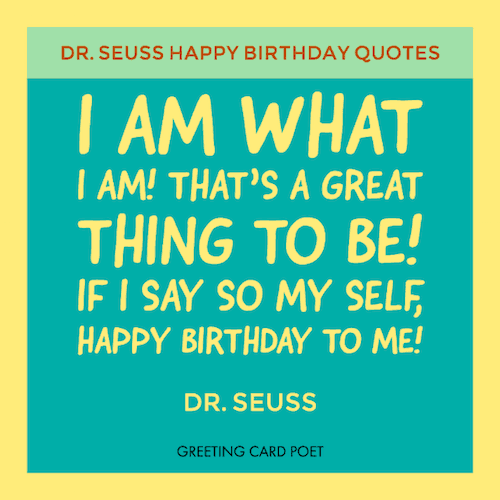 Dr Seuss Birthday Quotes And Funny Sayings Greeting Card Poet