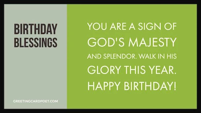 Birthday Blessings And Religious Wishes Greeting Card Poet