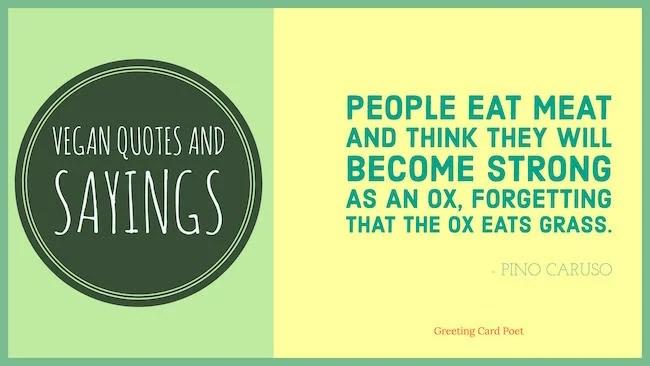 Vegan Quotes And Vegetarian Sayings Greeting Card Poet