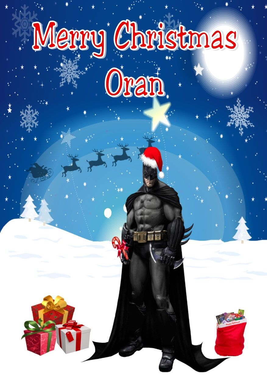 Personalised Batman Christmas Card