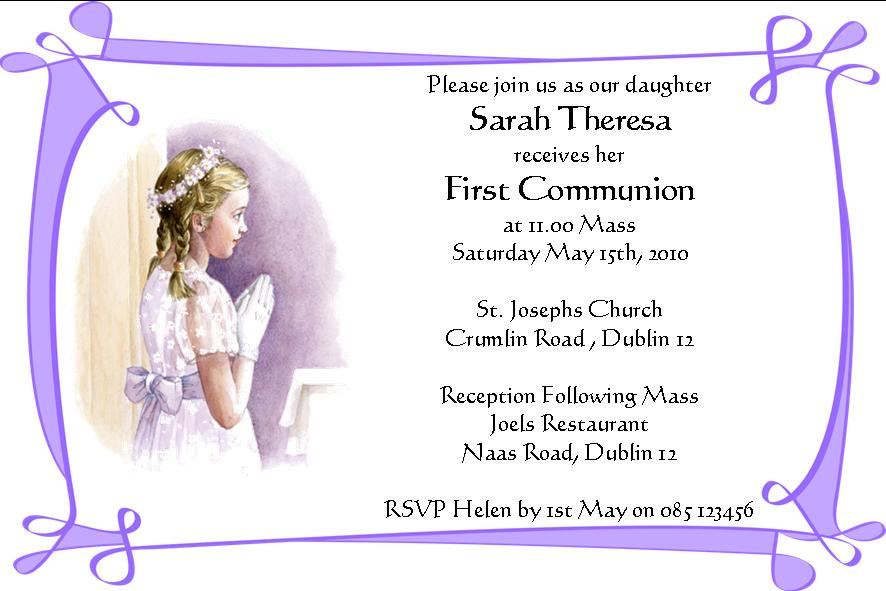 Personalised Christening Invitation Cards