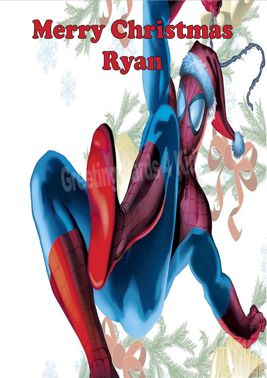 Personalised Spider Man Christmas Card
