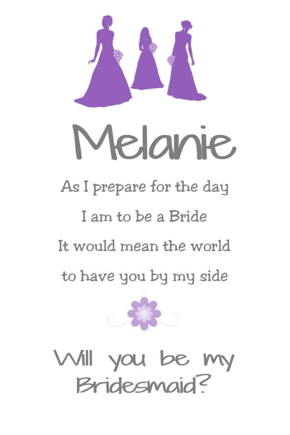 Will You Be My Bridesmaid Card Design 3