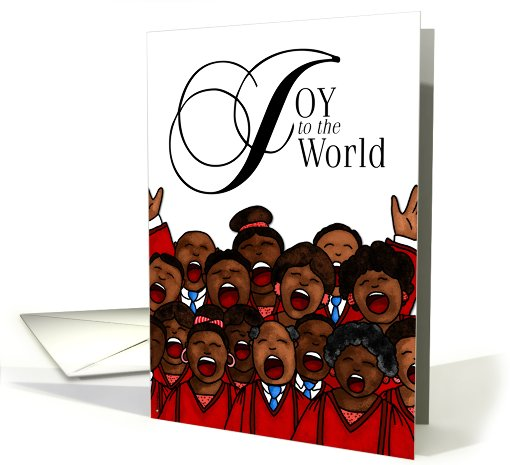 Joy To The World African American Christmas Card 558828