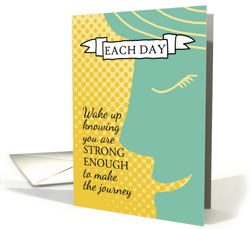 Strong Enough Inspiration For Cancer Patients Card 937718