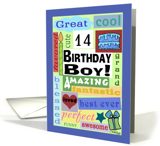 Happy Birthday For 14 Year Old Boy Good Word Subway Art