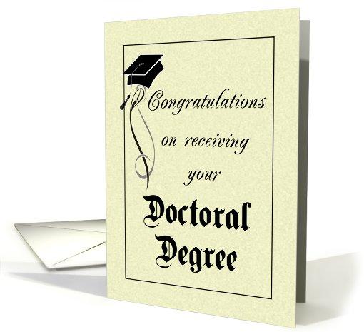 Graduation Doctoral Degree Card 412131